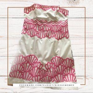 Lilly Pulitzer Bowen Dress White/Pink Size 12